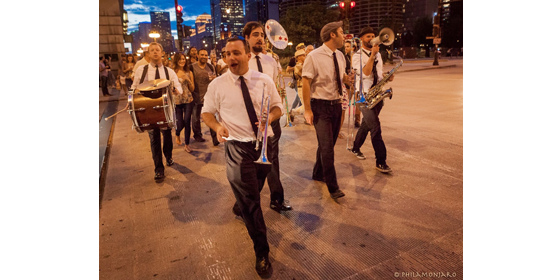 Second Line: Band at a summer wedding